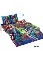 ผ้าปูที่นอน ผ้านวม ลายอเวนเจอร์ ชุดเครื่องนอน TOTO Avengers AV03 ชุดเครื่องนอน TOTO