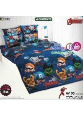 ผ้าปูที่นอน ผ้านวม ลายอเวนเจอร์ ชุดเครื่องนอน TOTO Avengers AV05 ชุดเครื่องนอน TOTO