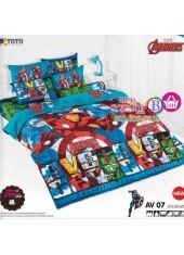 ผ้าปูที่นอน ผ้านวม ลายอเวนเจอร์ ชุดเครื่องนอน TOTO Avengers AV07 ชุดเครื่องนอน TOTO