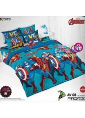ผ้าปูที่นอน ผ้านวม ลายอเวนเจอร์ ชุดเครื่องนอน TOTO Avengers AV08 ชุดเครื่องนอน TOTO