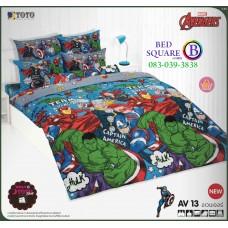 ผ้าปูที่นอน ผ้านวม ลายอเวนเจอร์ ชุดเครื่องนอน TOTO Avengers AV13 ชุดเครื่องนอน TOTO