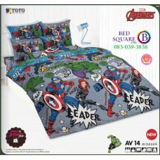 ผ้าปูที่นอน ผ้านวม ลายอเวนเจอร์ ชุดเครื่องนอน TOTO Avengers AV14 ชุดเครื่องนอน TOTO