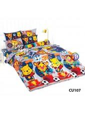 ผ้าปูที่นอนโตโต้ ผ้านวม ลายคิวตี้หมีพูห์ Disney Cuties Pooh Bear CU107