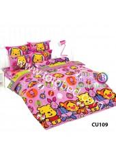 ผ้าปูที่นอนโตโต้ ผ้านวม ลายคิวตี้หมีพูห์ Disney Cuties Pooh Bear CU109