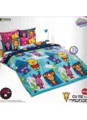 ผ้าปูที่นอนโตโต้ ผ้านวม ลายคิวตี้หมีพูห์ Disney Cuties Pooh Bear CU112