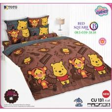 ผ้าปูที่นอนโตโต้ ผ้านวม ลายคิวตี้หมีพูห์ Disney Cuties Pooh Bear CU131