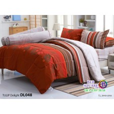 ผ้าปูที่นอนผ้านวม ทิวลิป ดีไลท์ DL048 ชุดเครื่องนอน Tulip Delight