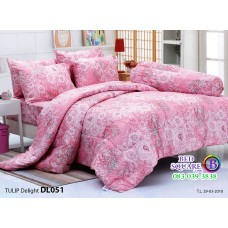ผ้าปูที่นอนผ้านวม ทิวลิป ดีไลท์ DL051 ชุดเครื่องนอน Tulip Delight