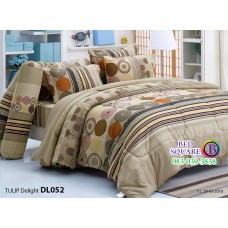 ผ้าปูที่นอนผ้านวม ทิวลิป ดีไลท์ DL052 ชุดเครื่องนอน Tulip Delight