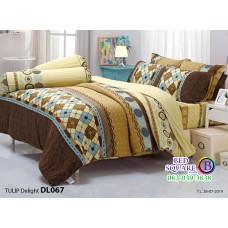 ผ้าปูที่นอนผ้านวม ทิวลิป ดีไลท์ DL067 ชุดเครื่องนอน Tulip Delight