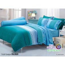 ผ้าปูที่นอนผ้านวม ทิวลิป ดีไลท์ DL069 ชุดเครื่องนอน Tulip Delight