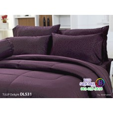 ผ้าปูที่นอนผ้านวม ทิวลิป ดีไลท์ DL531 ชุดเครื่องนอน Tulip Delight