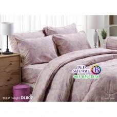 ผ้าปูที่นอนผ้านวม ทิวลิป ดีไลท์ DL807 ชุดเครื่องนอน Tulip Delight