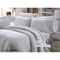 ผ้าปูที่นอนผ้านวม ทิวลิป ดีไลท์ DL808 ชุดเครื่องนอน Tulip Delight