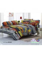 ผ้าปูที่นอนทิวลิป ผ้านวม ลายแม็คควีน Mcqueen Cars DLC027 ชุดเครื่องนอน Tulip