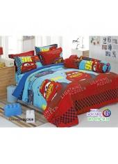ผ้าปูที่นอนทิวลิป ผ้านวม ลายแม็คควีน Mcqueen Cars DLC028 ชุดเครื่องนอน Tulip