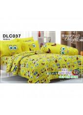 ผ้าปูที่นอนทิวลิป ผ้านวม ลายสปอนจ์บ๊อบ SpongeBob DLC037 ชุดเครื่องนอน Tulip