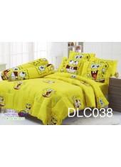 ผ้าปูที่นอนทิวลิป ผ้านวม ลายสปอนจ์บ๊อบ SpongeBob DLC038 ชุดเครื่องนอน Tulip