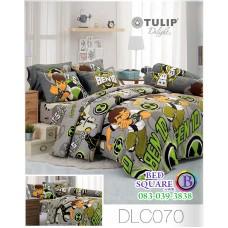 ผ้าปูที่นอนทิวลิป ผ้านวม ลายเบ็นเท็น BEN10 DLC070 ชุดเครื่องนอน Tulip