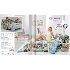ผ้าปูที่นอนทิวลิป ผ้านวม ลายหมาจ๋า DLC073 ชุดเครื่องนอน Tulip
