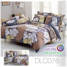 ผ้าปูที่นอนทิวลิป ผ้านวม ลายหมาจ๋า DLC076 ชุดเครื่องนอน Tulip