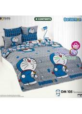 ผ้าปูที่นอนโตโต้ ผ้านวม ลายโดราเอมอน Doraemon DM105 ชุดเครื่องนอน TOTO