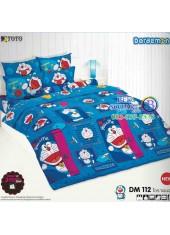 ผ้าปูที่นอนโตโต้ ผ้านวม ลายโดราเอมอน Doraemon DM112 ชุดเครื่องนอน TOTO