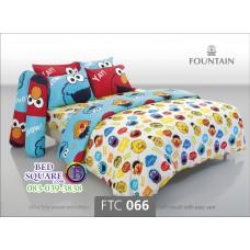 ชุดเครื่องนอนลายเซซามี สตรีท Sesame Street สีขาว Fountain ผ้าปูที่นอน ผ้านวมฟาวเท่น FTC066