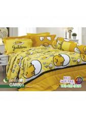 ผ้าปูที่นอนผ้านวม กันไรฝุ่น กันภูมิแพ้ ลายไข่ขี้เกียจ Gudetama GM001 พื้นสีเหลือง Jessica