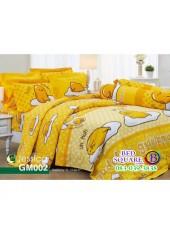 ผ้าปูที่นอนผ้านวม กันไรฝุ่น กันภูมิแพ้ ลายไข่ขี้เกียจ Gudetama GM002 พื้นสีเหลือง Jessica