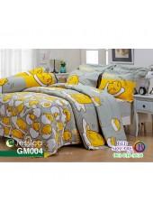 ผ้าปูที่นอนผ้านวม กันไรฝุ่น กันภูมิแพ้ ลายไข่ขี้เกียจ Gudetama GM004 พื้นสีเทา เหลือง Jessica