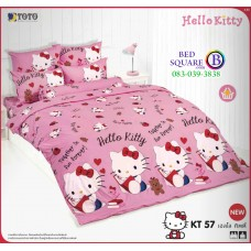 ผ้าปูที่นอนโตโต้ ผ้านวม ลายคิตตี้ Hello Kitty KT57 ชุดเครื่องนอน TOTO