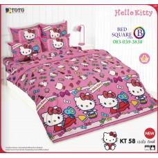 ผ้าปูที่นอนโตโต้ ผ้านวม ลายคิตตี้ Hello Kitty KT58 ชุดเครื่องนอน TOTO