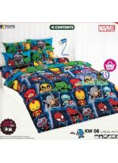 ชุดเครื่องนอนมาร์เวล คาวาอี้ Marvel TOTO ผ้าปูที่นอน ผ้านวม ลิขสิทธิ์แท้โตโต้ KW08