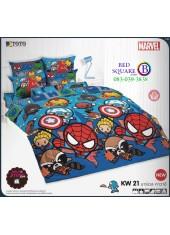 ชุดเครื่องนอนมาร์เวล คาวาอี้ Marvel TOTO ผ้าปูที่นอน ผ้านวม ลิขสิทธิ์แท้โตโต้ KW21