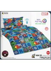 ชุดเครื่องนอนมาร์เวล คาวาอี้ Marvel TOTO ผ้าปูที่นอน ผ้านวม ลิขสิทธิ์แท้โตโต้ KW22
