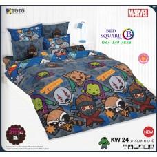 ชุดเครื่องนอนมาร์เวล คาวาอี้ Marvel TOTO ผ้าปูที่นอน ผ้านวม ลิขสิทธิ์แท้โตโต้ KW24
