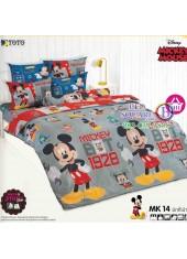 ชุดเครื่องนอนมิกกี้เมาส์ Mickey Mouse TOTO ผ้าปูที่นอน ผ้านวม ลิขสิทธิ์แท้โตโต้ MK14