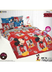 ชุดเครื่องนอนมิกกี้เมาส์ Mickey Mouse TOTO ผ้าปูที่นอน ผ้านวม ลิขสิทธิ์แท้โตโต้ MK16