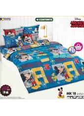 ชุดเครื่องนอนมิกกี้เมาส์ Mickey Mouse TOTO ผ้าปูที่นอน ผ้านวม ลิขสิทธิ์แท้โตโต้ MK18