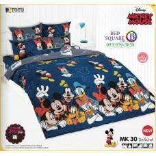 ชุดเครื่องนอนมิกกี้เมาส์ Mickey Mouse TOTO ผ้าปูที่นอน ผ้านวม ลิขสิทธิ์แท้โตโต้ MK30
