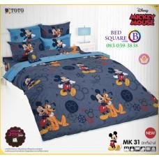 ชุดเครื่องนอนมิกกี้เมาส์ Mickey Mouse TOTO ผ้าปูที่นอน ผ้านวม ลิขสิทธิ์แท้โตโต้ MK31