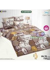 ผ้าปูที่นอนผ้านวมลายการ์ตูนหมีพูห์ Pooh Bear PH70 ชุดเครื่องนอน TOTO