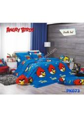 ชุดผ้าปูที่นอน ผ้าปูที่นอนผ้านวมลาย Angry bird SATIN PK073