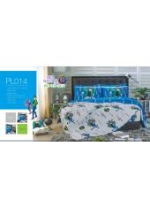 ชุดเครื่องนอนลายเบ็นเท็น Ben10 PL014 Satin Plus ผ้าปูที่นอน ผ้านวมซาตินพลัส