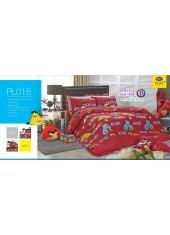 ชุดเครื่องนอนลายแองกรี้เบิร์ดส์ Angry Birds  PL015 Satin Plus ผ้าปูที่นอน ผ้านวมซาตินพลัส