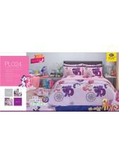 ชุดเครื่องนอนลายมายลิตเติ้ลโพนี่ My Little Pony PL024 Satin Plus ผ้าปูที่นอน ผ้านวมซาตินพลัส