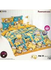 ผ้าปูที่นอนผ้านวมลายปอมปอมปูริน Pom Pom Purin PM19 ชุดเครื่องนอน TOTO