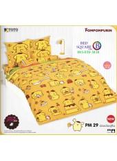ผ้าปูที่นอนผ้านวมลายปอมปอมปูริน Pom Pom Purin PM29 ชุดเครื่องนอน TOTO