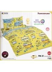 ผ้าปูที่นอนผ้านวมลายปอมปอมปูริน Pom Pom Purin PM31 ชุดเครื่องนอน TOTO